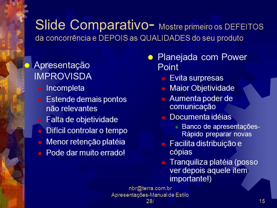 nbr@terra.com.br Apresentações-Manual de Estilo 28/