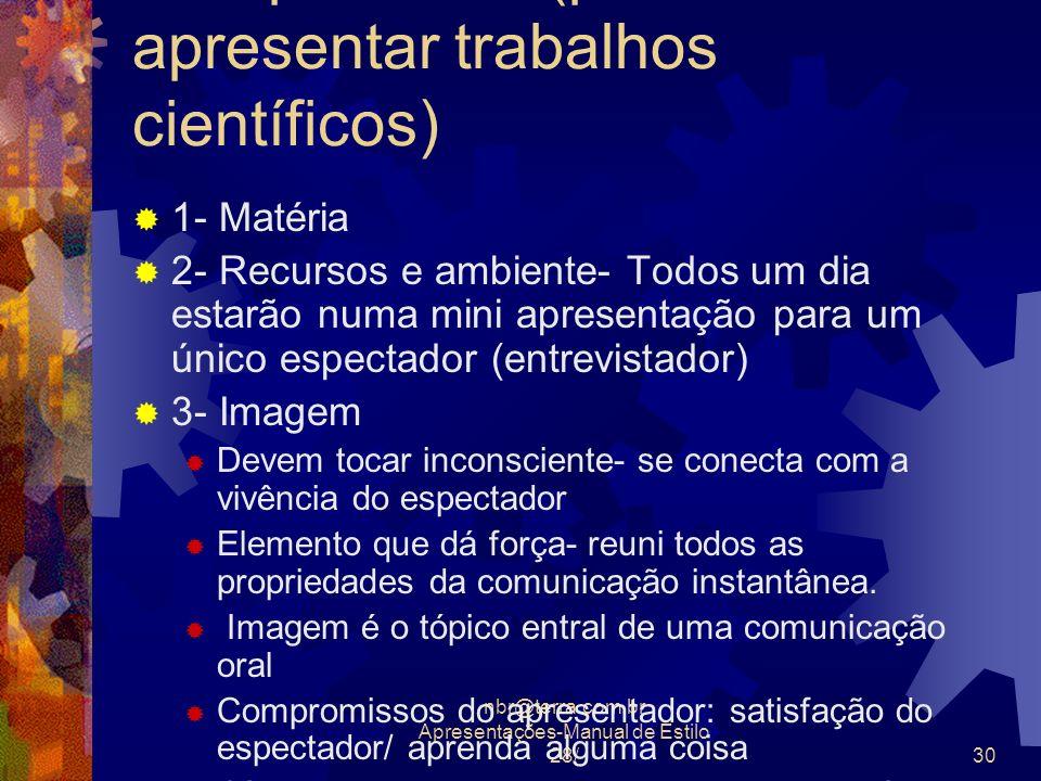 Complemento (palestra- como apresentar trabalhos científicos)