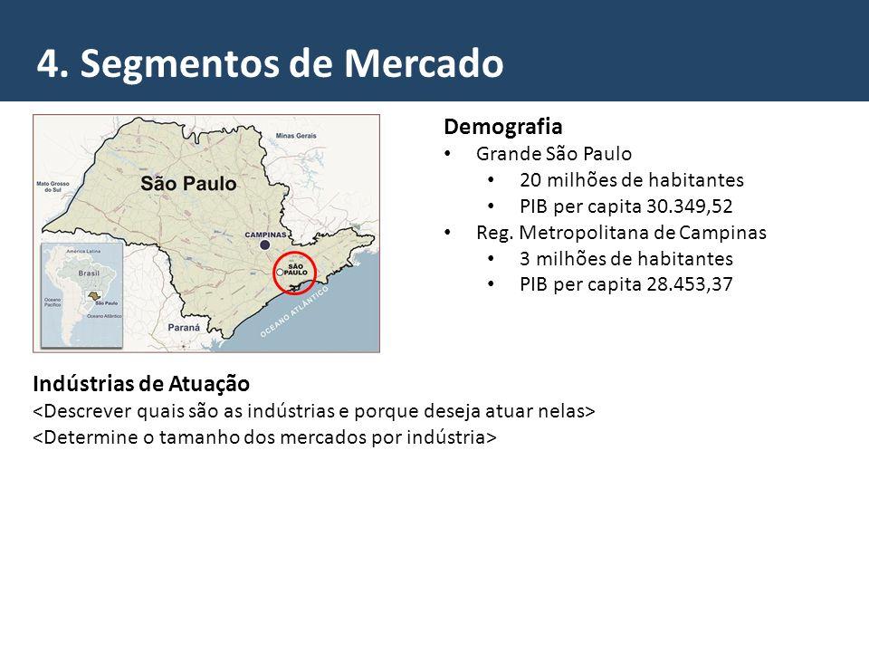 4. Segmentos de Mercado Demografia Indústrias de Atuação