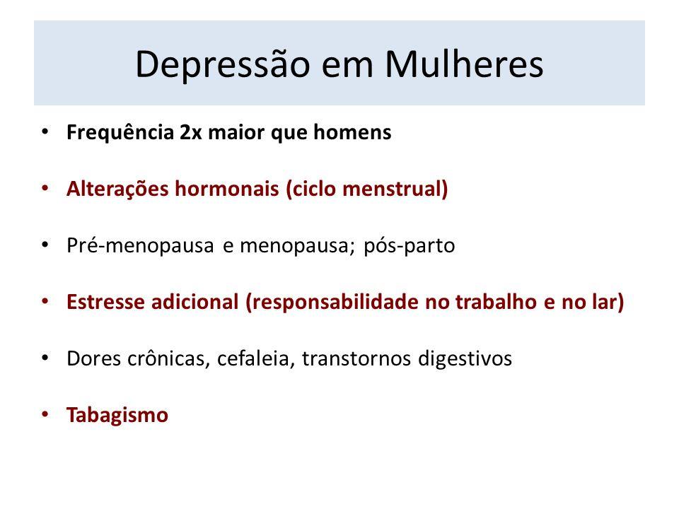 Depressão em Mulheres Frequência 2x maior que homens
