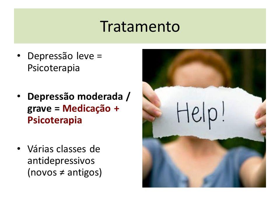Tratamento Depressão leve = Psicoterapia