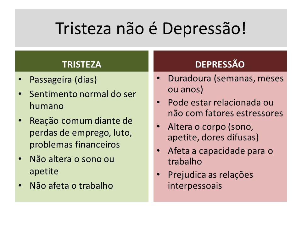 Tristeza não é Depressão!