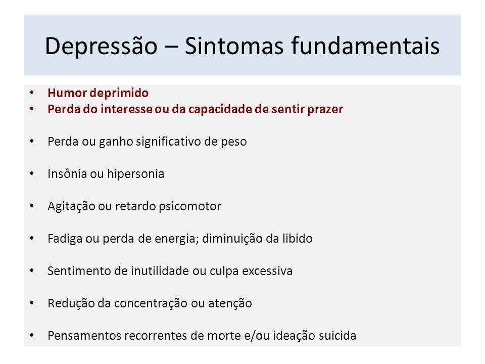 Depressão – Sintomas fundamentais