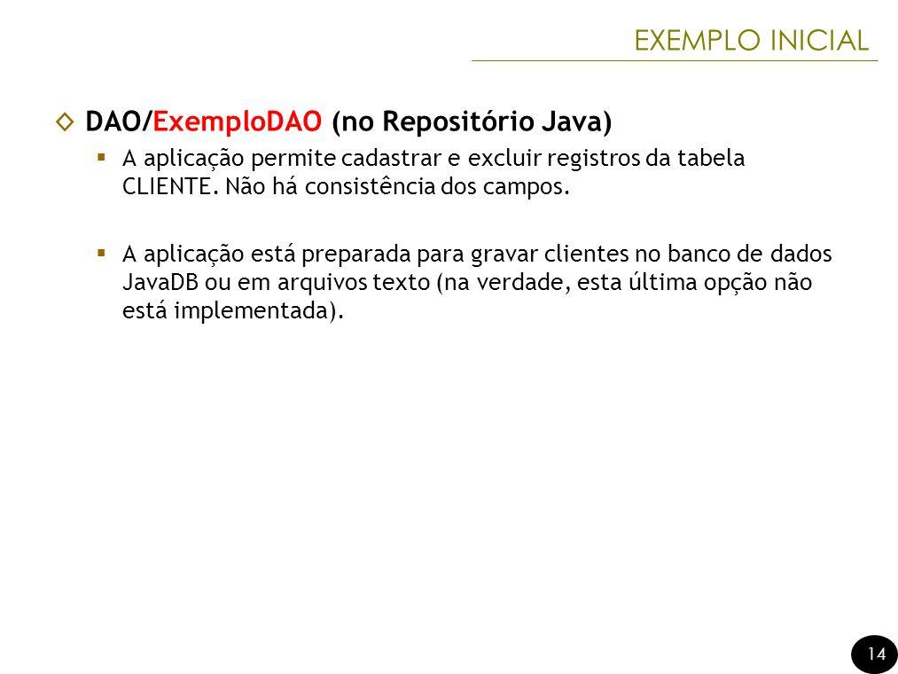 DAO/ExemploDAO (no Repositório Java)