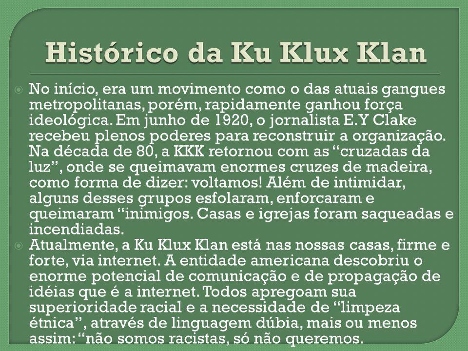 Histórico da Ku Klux Klan