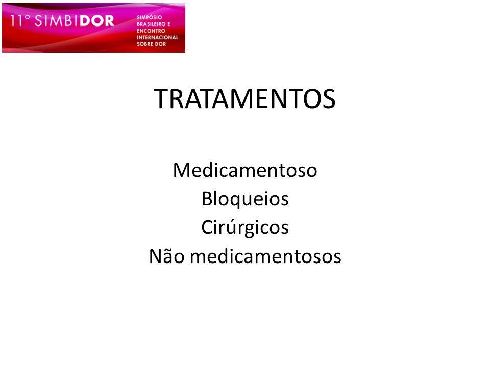 Medicamentoso Bloqueios Cirúrgicos Não medicamentosos