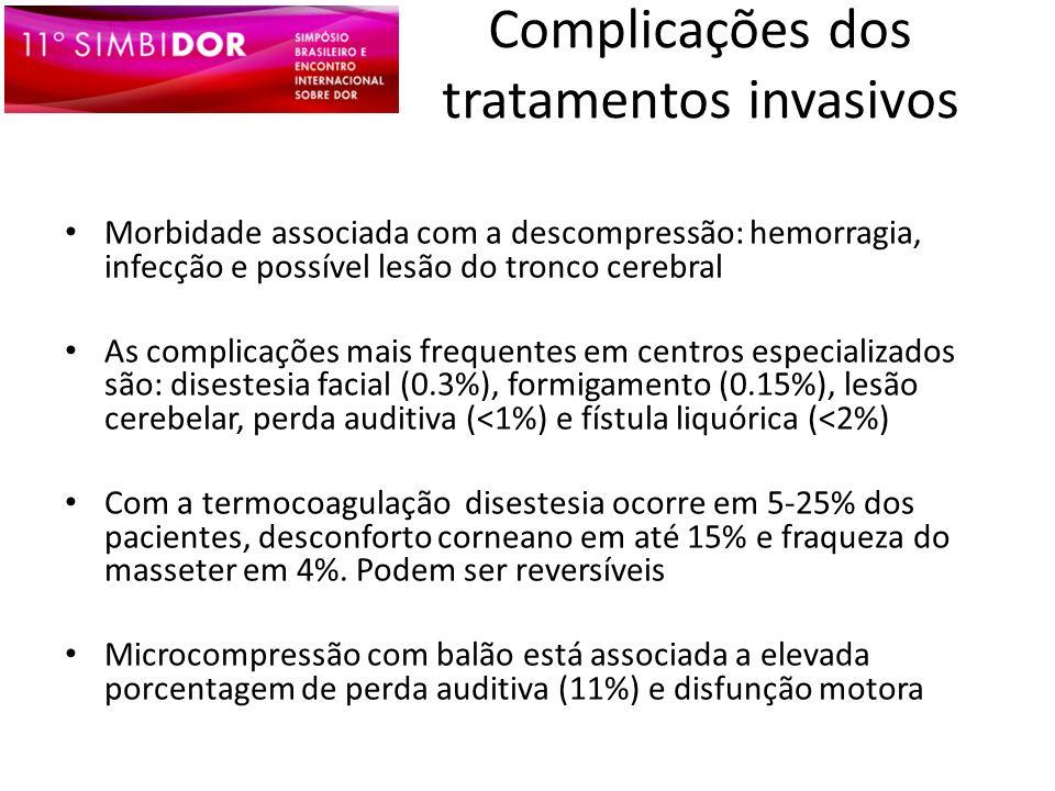 Complicações dos tratamentos invasivos