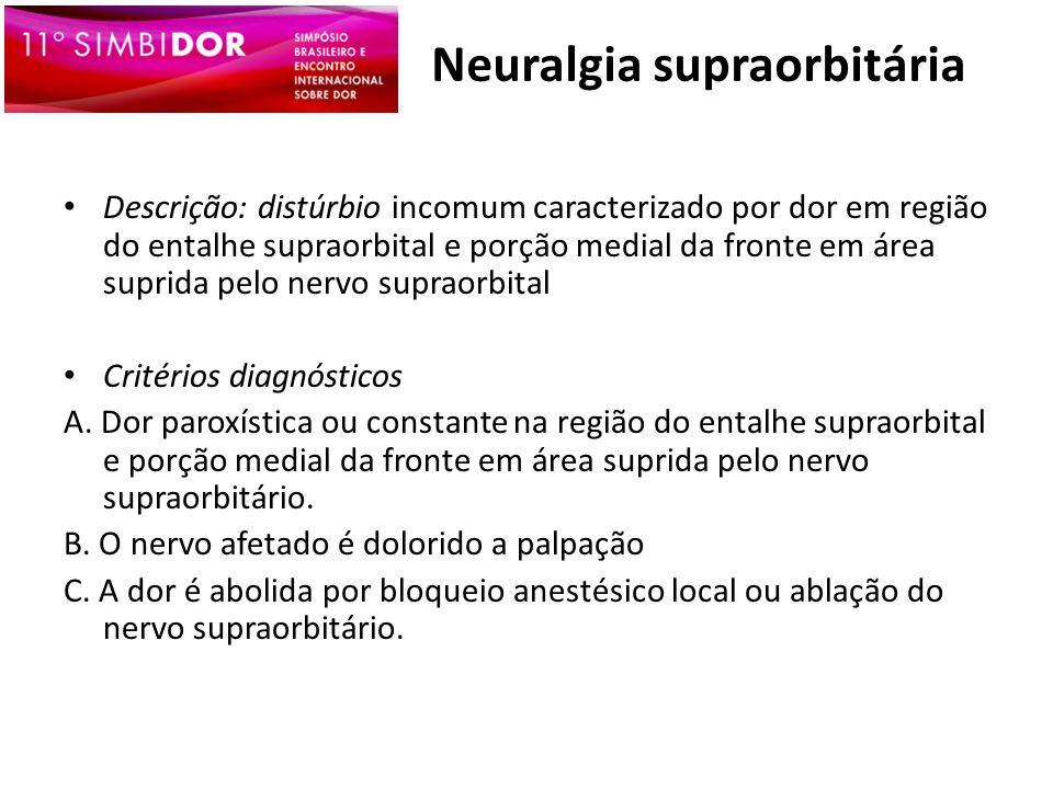 Neuralgia supraorbitária