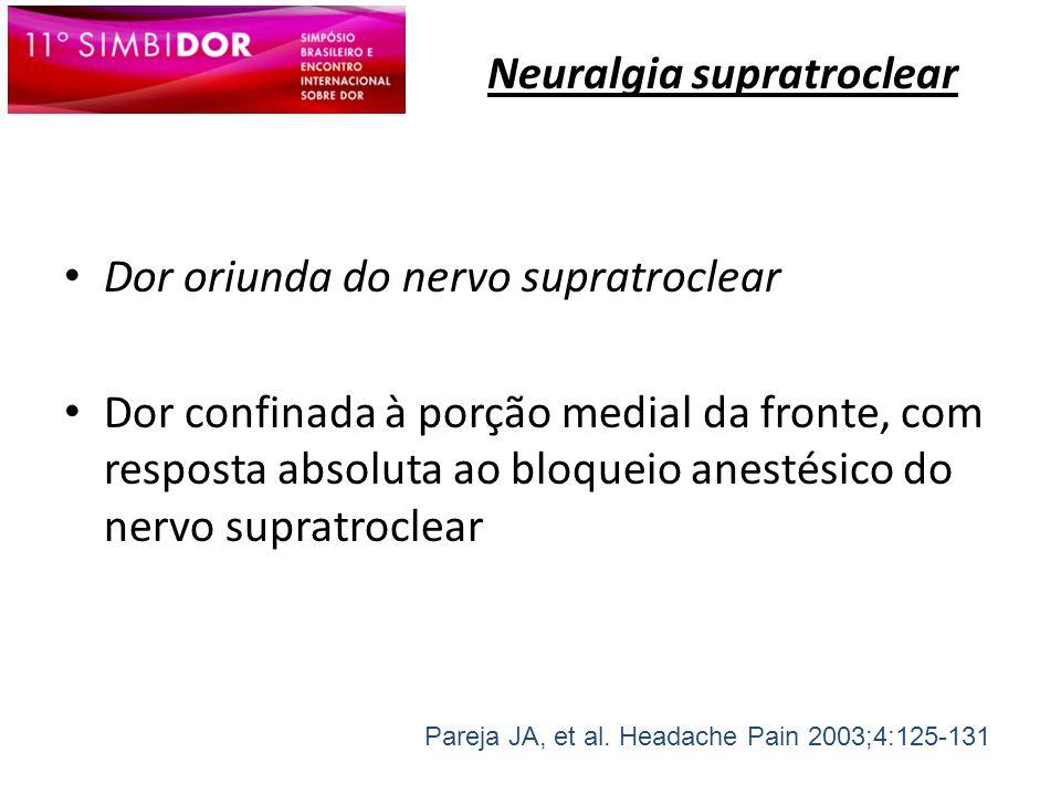 Neuralgia supratroclear