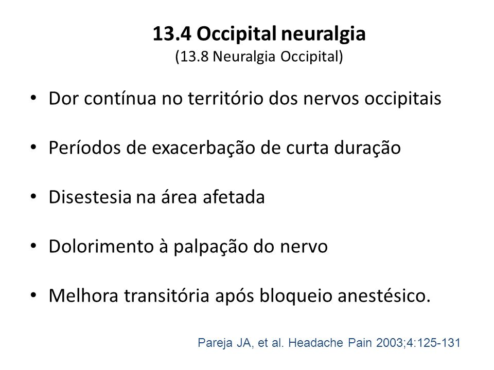 (13.8 Neuralgia Occipital)