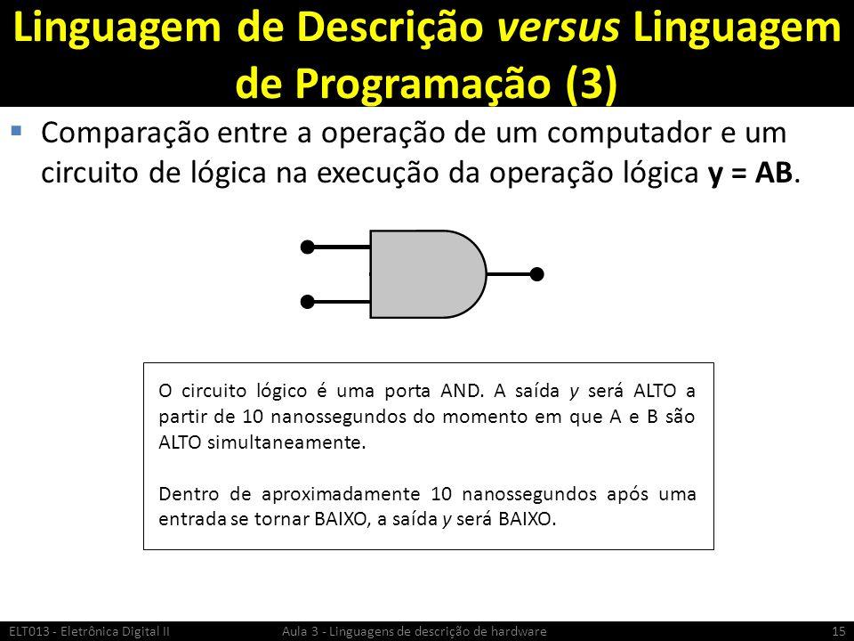 Linguagem de Descrição versus Linguagem de Programação (3)
