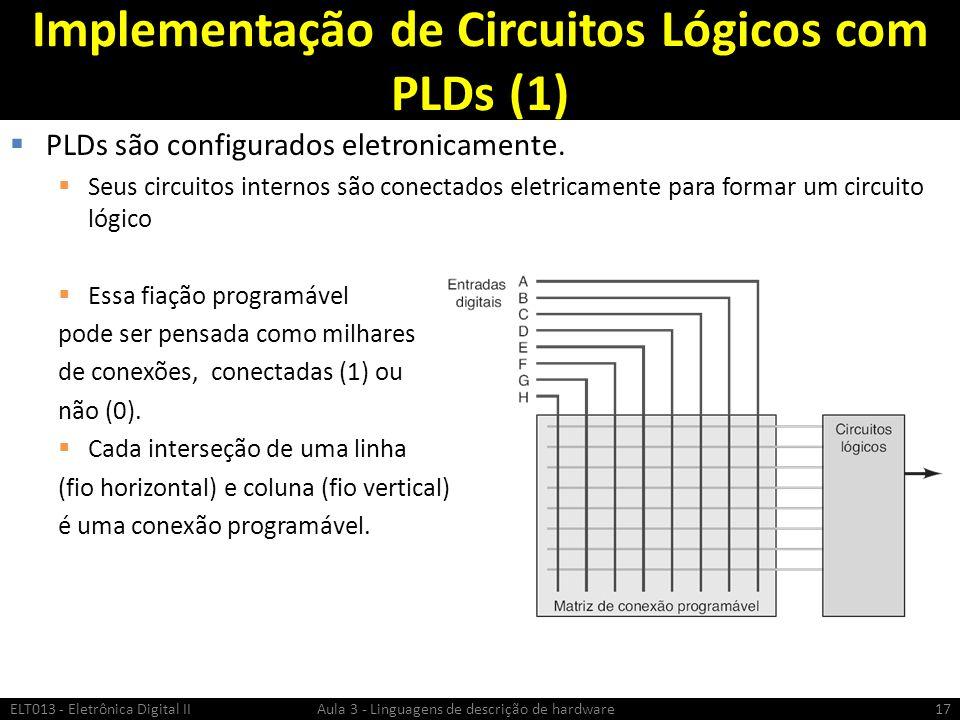 Implementação de Circuitos Lógicos com PLDs (1)