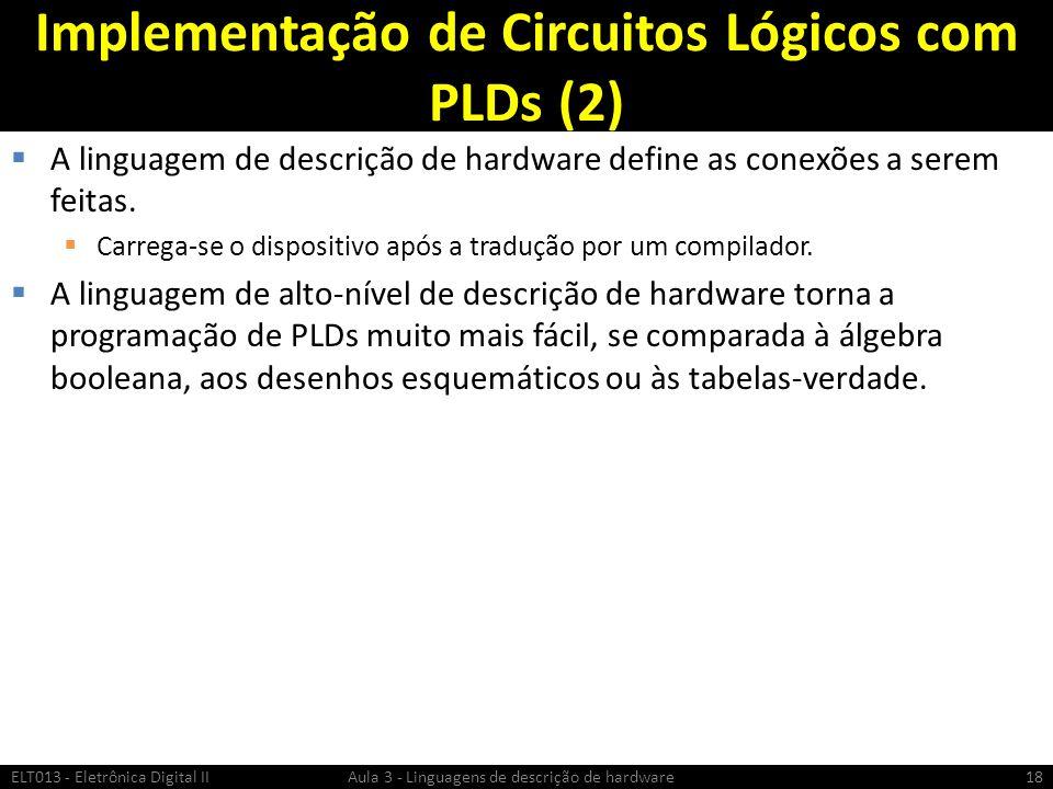 Implementação de Circuitos Lógicos com PLDs (2)