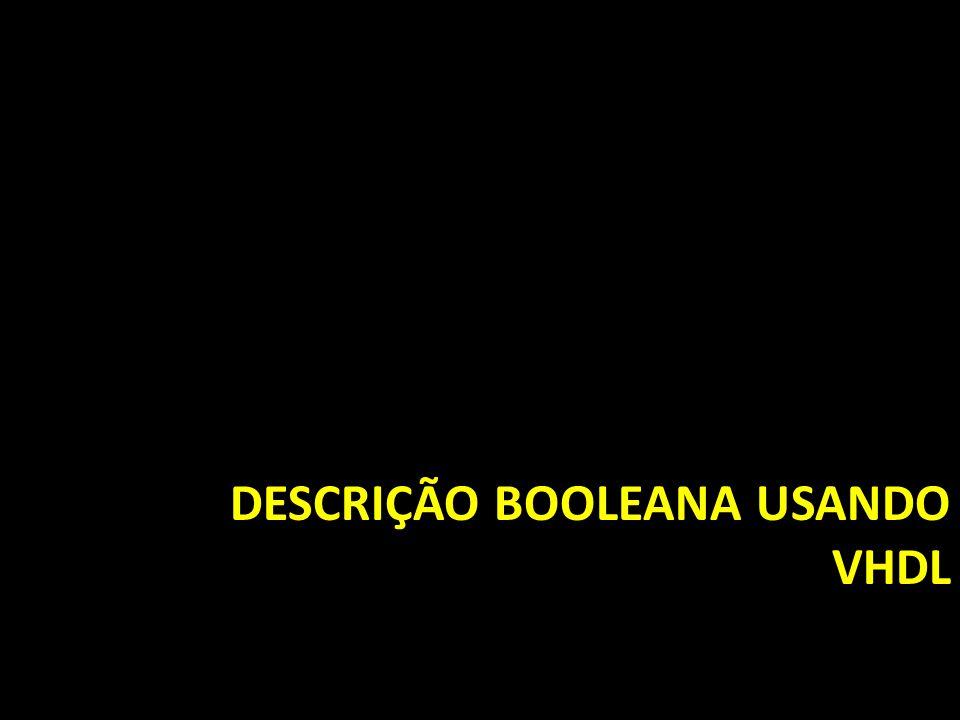 Descrição booleana usando VHDL