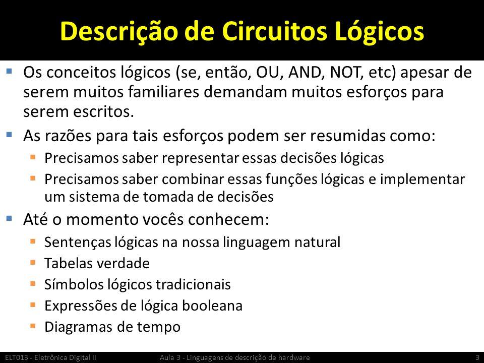 Descrição de Circuitos Lógicos