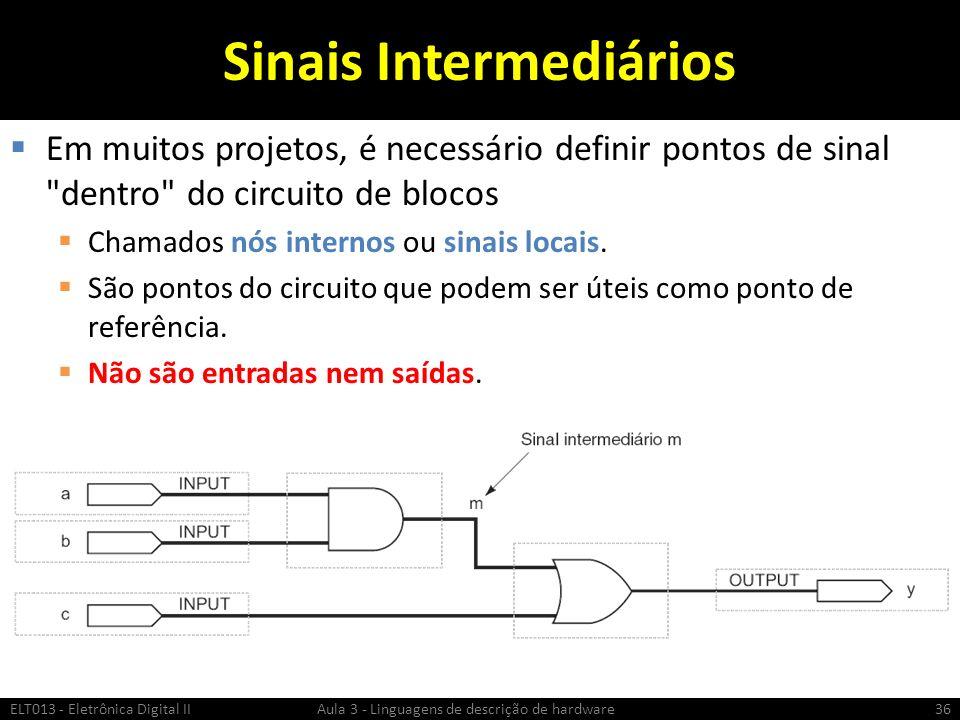 Sinais Intermediários