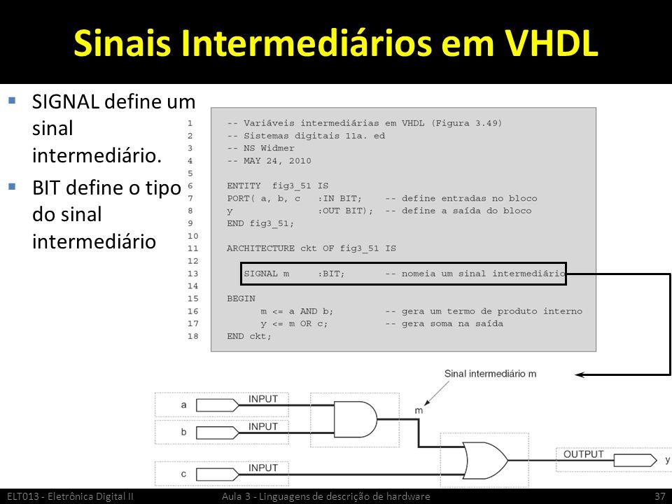 Sinais Intermediários em VHDL