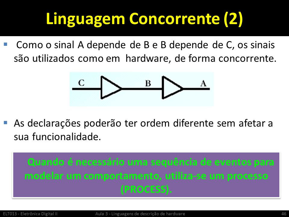 Linguagem Concorrente (2)