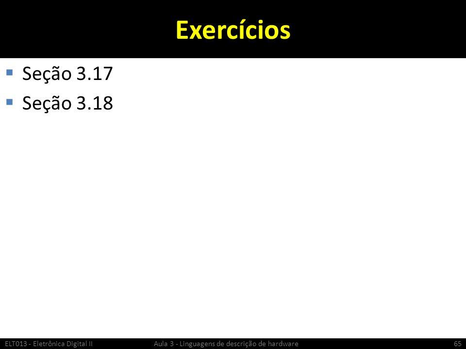 Exercícios Seção 3.17 Seção 3.18
