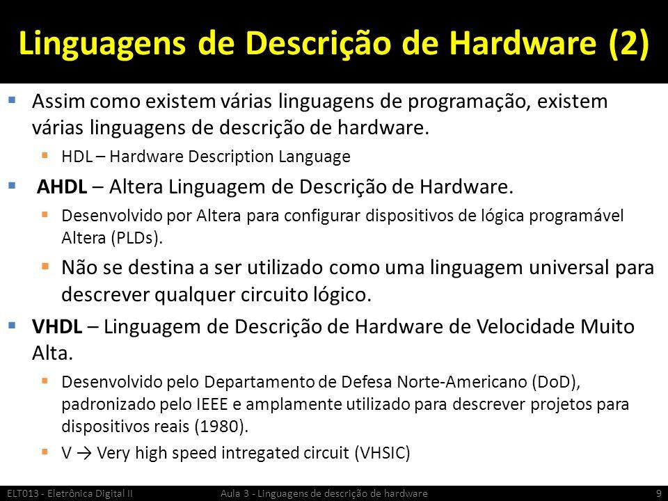 Linguagens de Descrição de Hardware (2)
