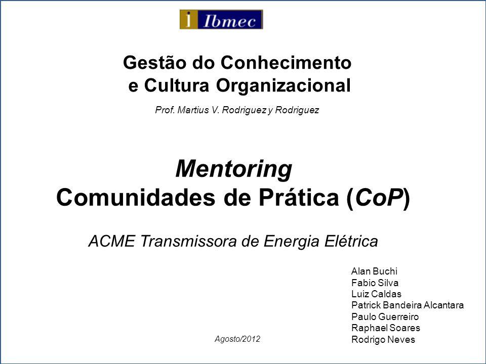 Mentoring Comunidades de Prática (CoP)