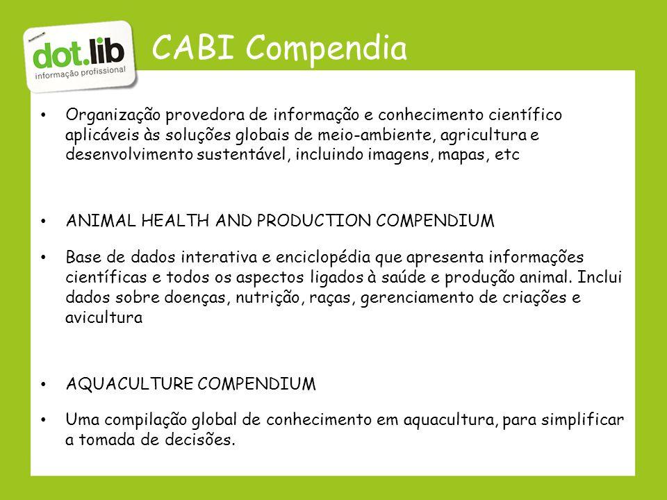 CABI Compendia
