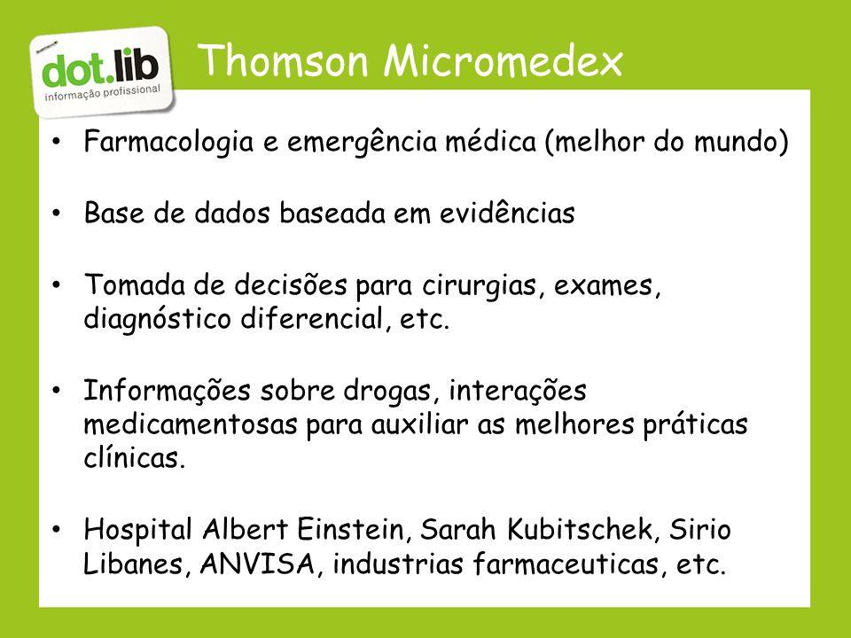 Thomson Micromedex Farmacologia e emergência médica (melhor do mundo)