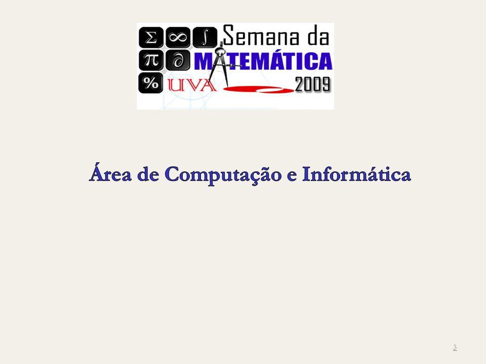 Área de Computação e Informática