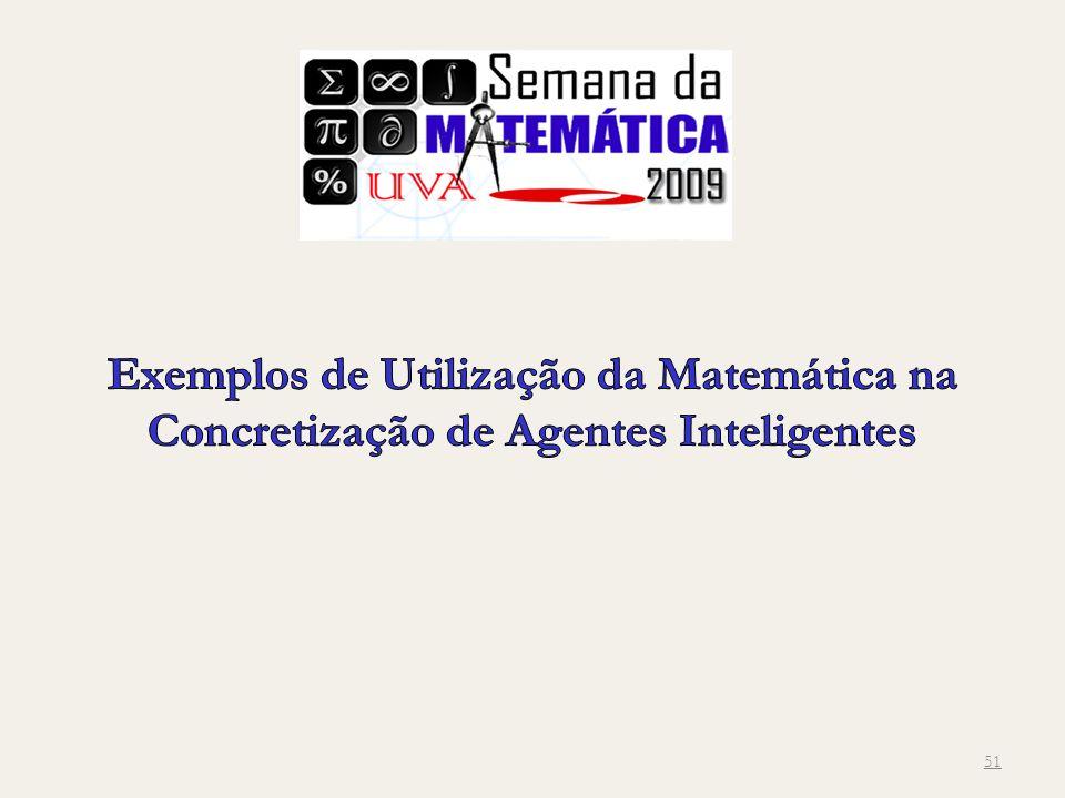 Exemplos de Utilização da Matemática na Concretização de Agentes Inteligentes