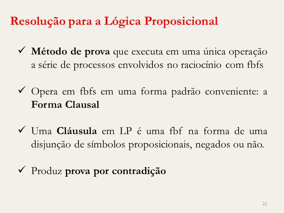 Resolução para a Lógica Proposicional
