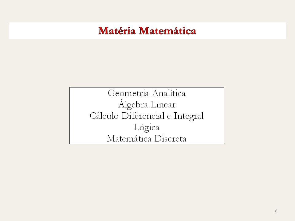 Matéria Matemática
