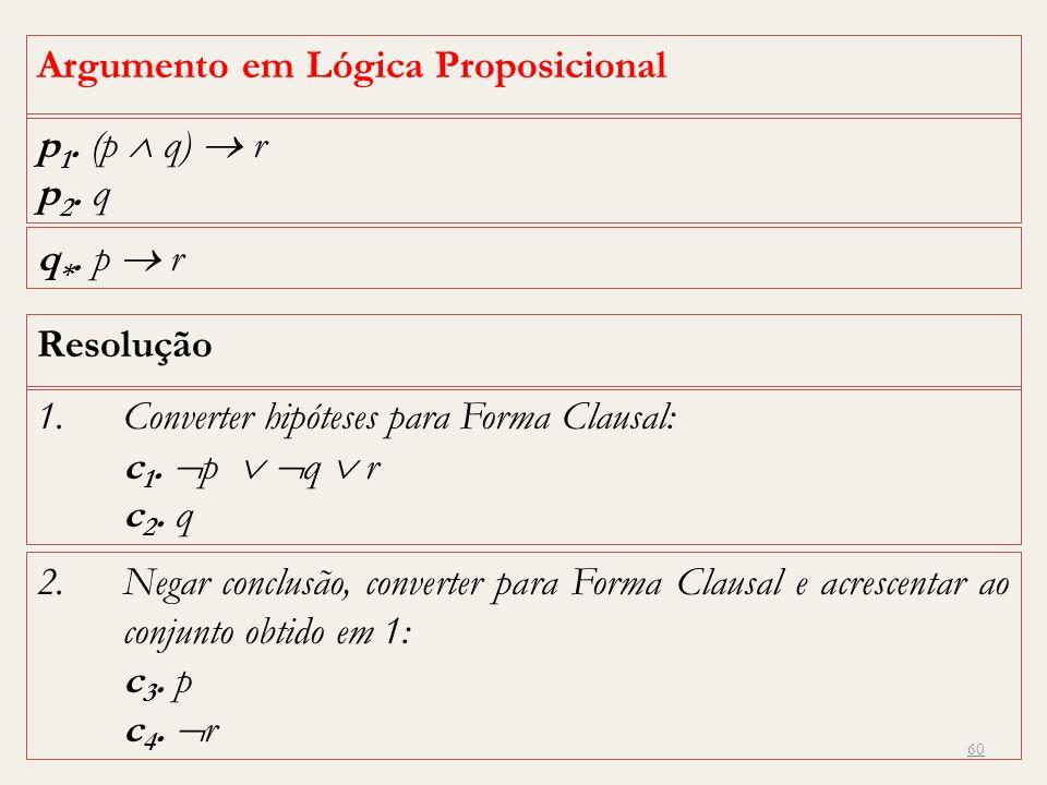 Argumento em Lógica Proposicional