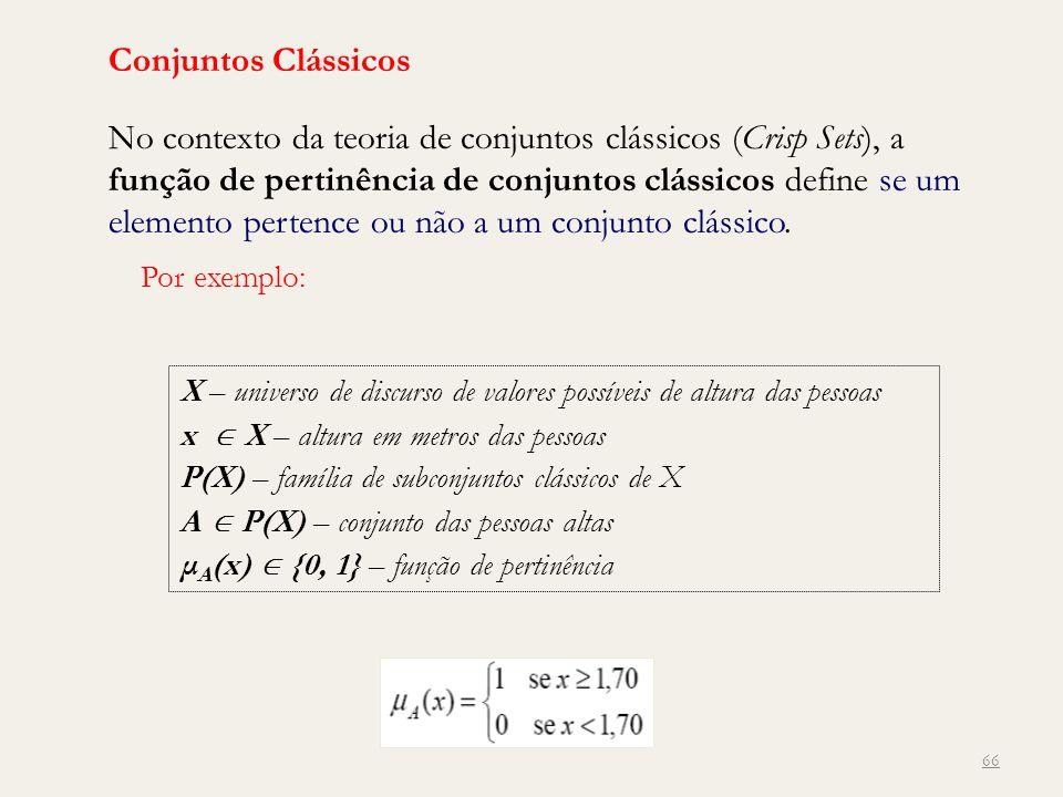 Conjuntos Clássicos