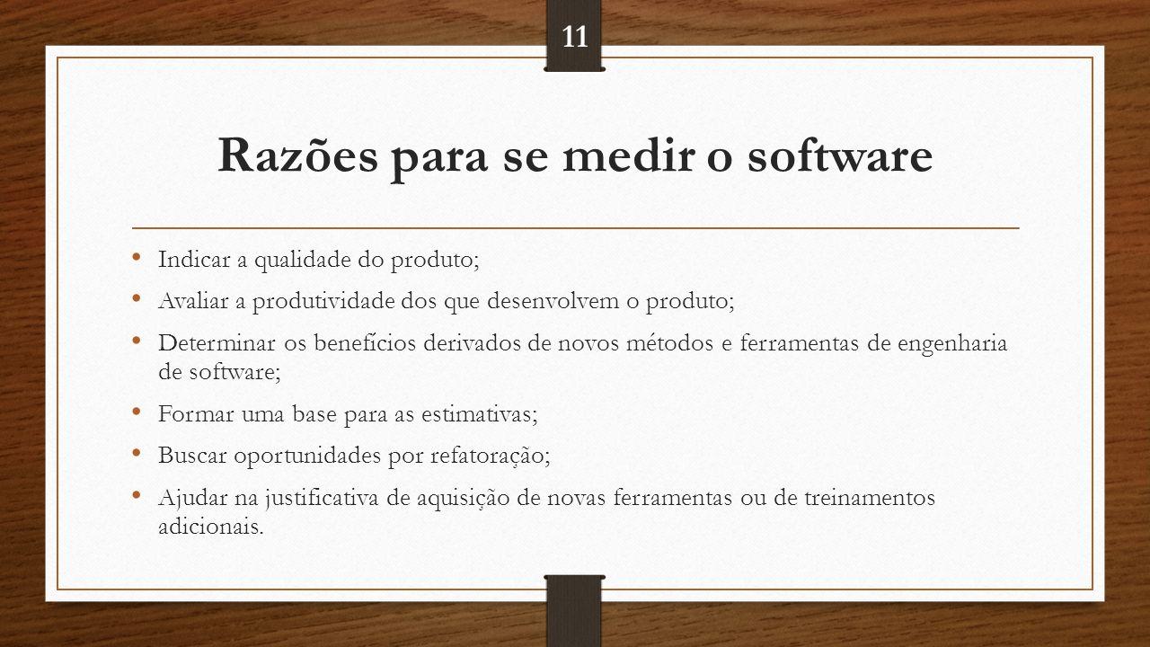 Razões para se medir o software