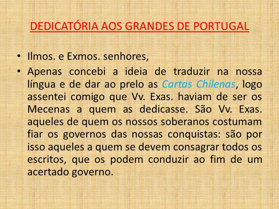 DEDICATÓRIA AOS GRANDES DE PORTUGAL