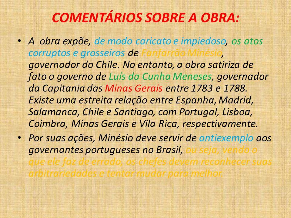 COMENTÁRIOS SOBRE A OBRA: