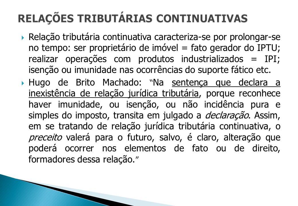 RELAÇÕES TRIBUTÁRIAS CONTINUATIVAS