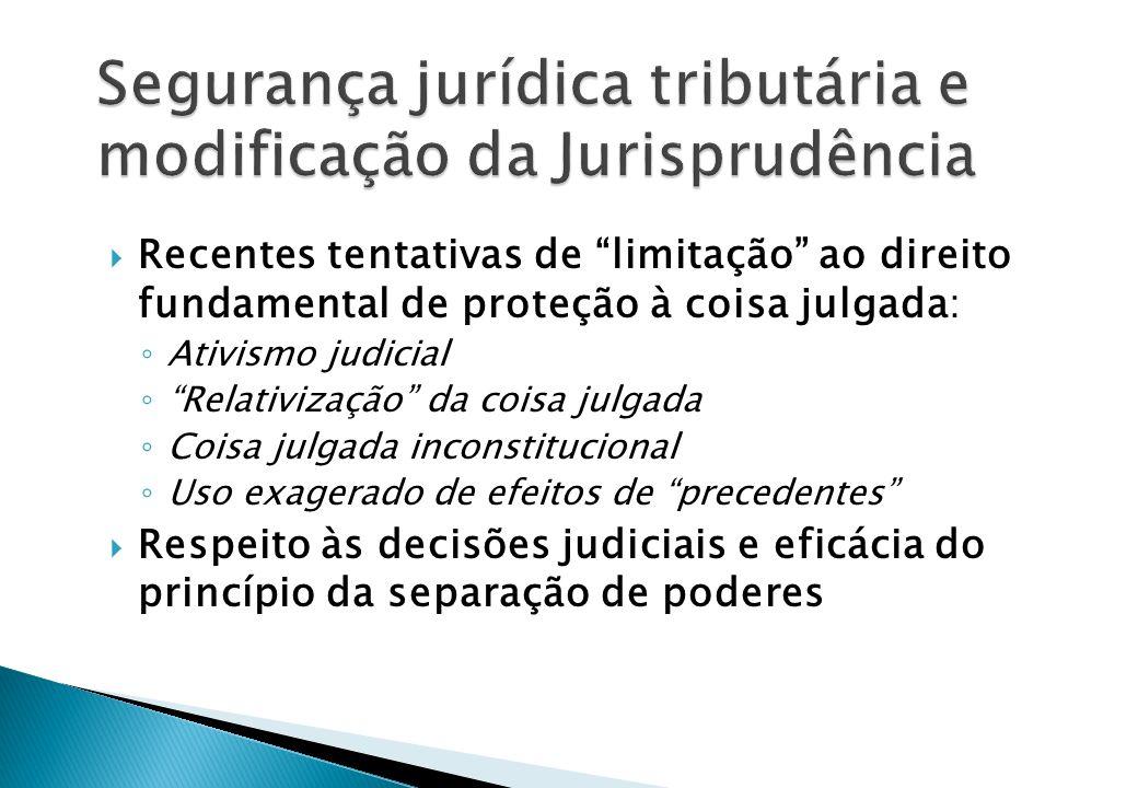 Segurança jurídica tributária e modificação da Jurisprudência