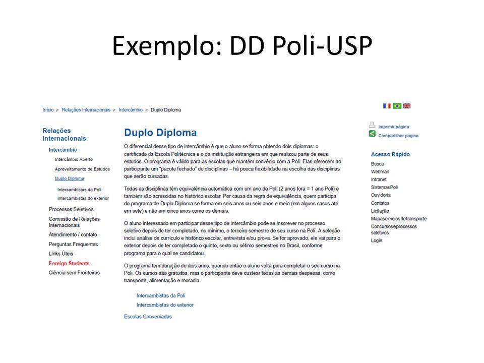 Exemplo: DD Poli-USP