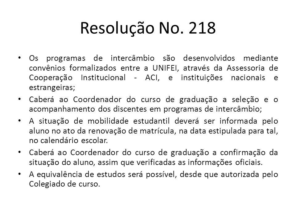 Resolução No. 218