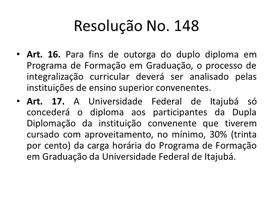 Resolução No. 148