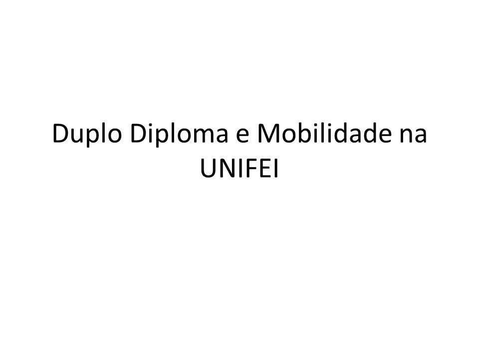 Duplo Diploma e Mobilidade na UNIFEI