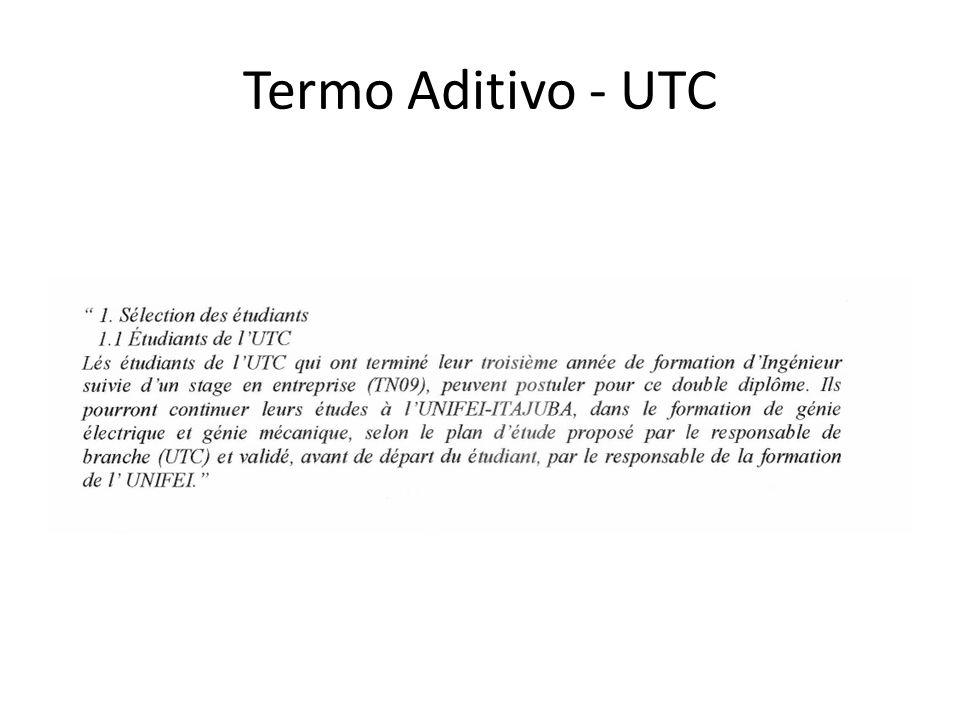 Termo Aditivo - UTC