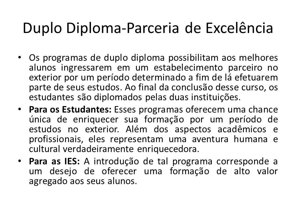 Duplo Diploma-Parceria de Excelência