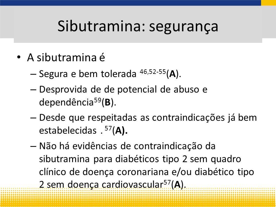 Sibutramina: segurança