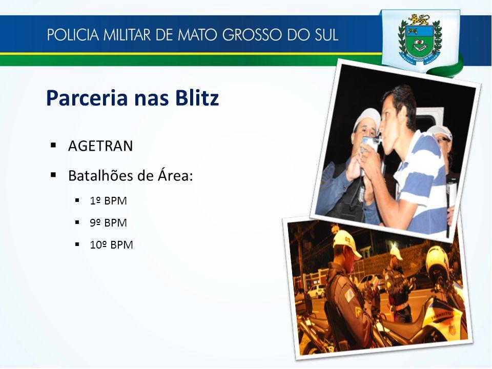 Parceria nas Blitz AGETRAN Batalhões de Área: 1º BPM 9º BPM 10º BPM