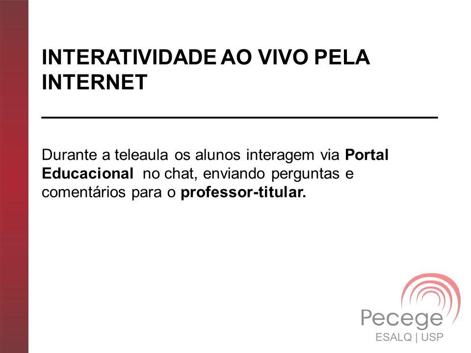INTERATIVIDADE AO VIVO PELA INTERNET