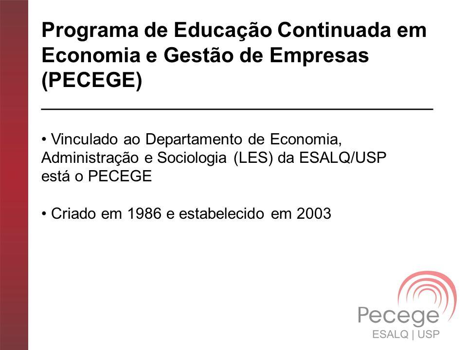 Programa de Educação Continuada em Economia e Gestão de Empresas