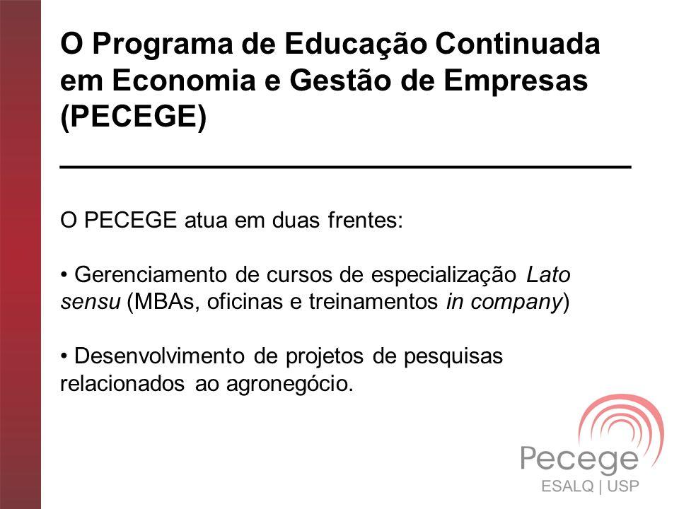 O Programa de Educação Continuada em Economia e Gestão de Empresas