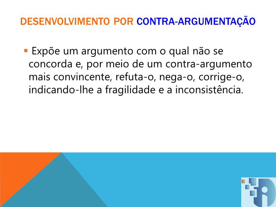 DESENVOLVIMENTO POR CONTRA-ARGUMENTAÇÃO